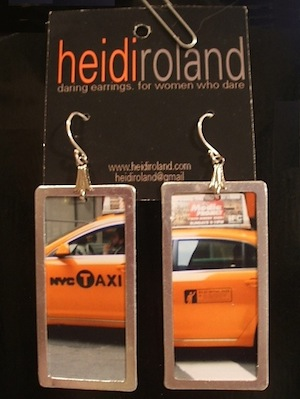 Taxi Photo Earrings from Heidi Roland.